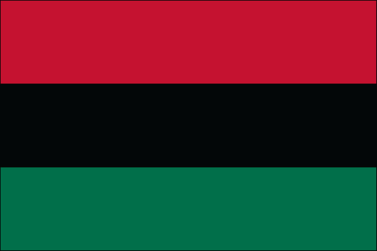 2x3' Poly flag of Afro America