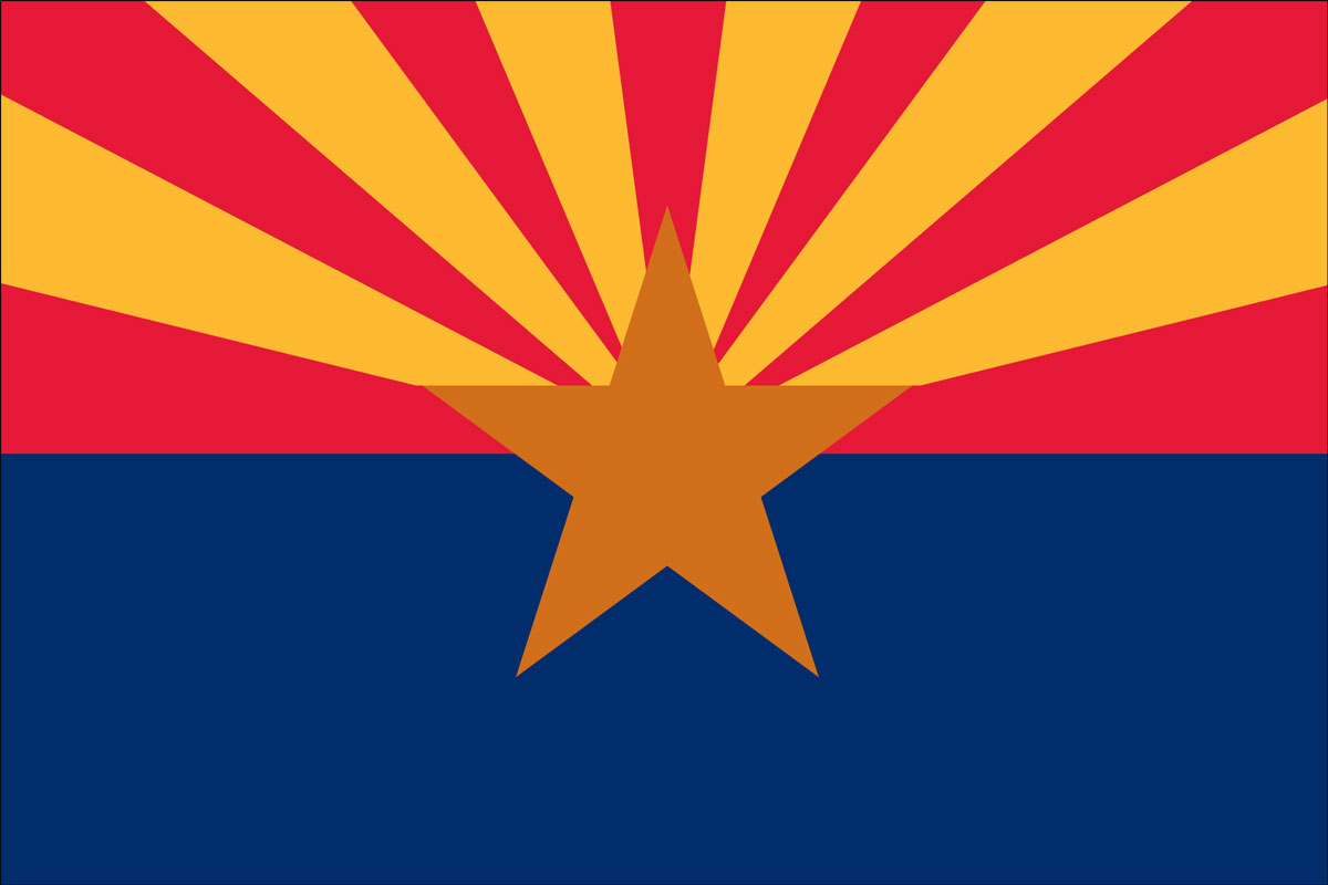 "12x18"" Nylon flag of State of Arizona"