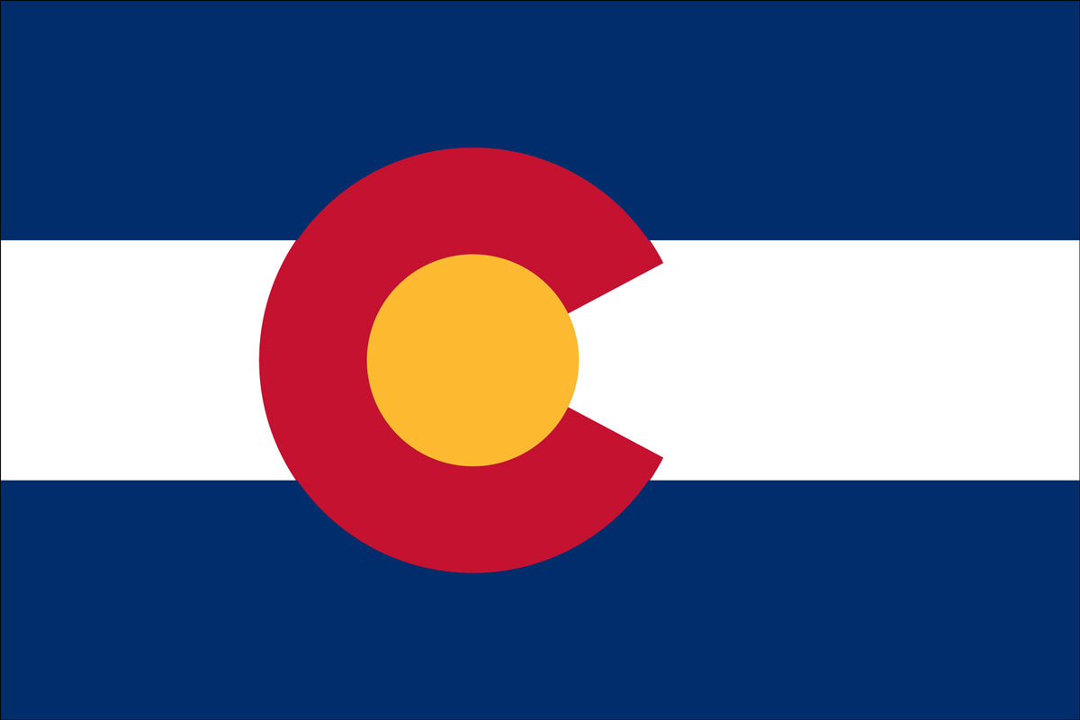 "12x18"" Nylon flag of State of Colorado"