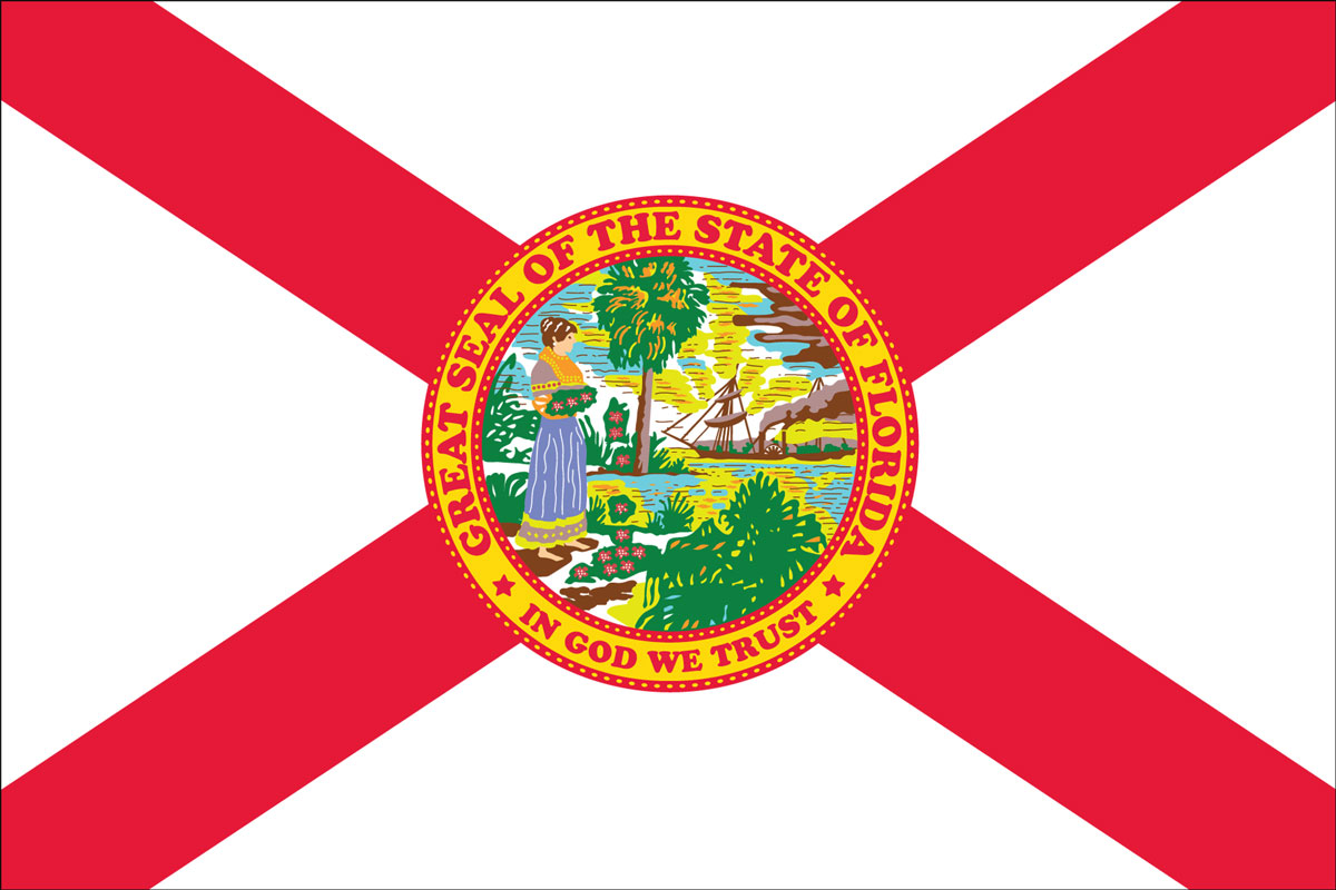 "12x18"" Nylon flag of State of Florida"