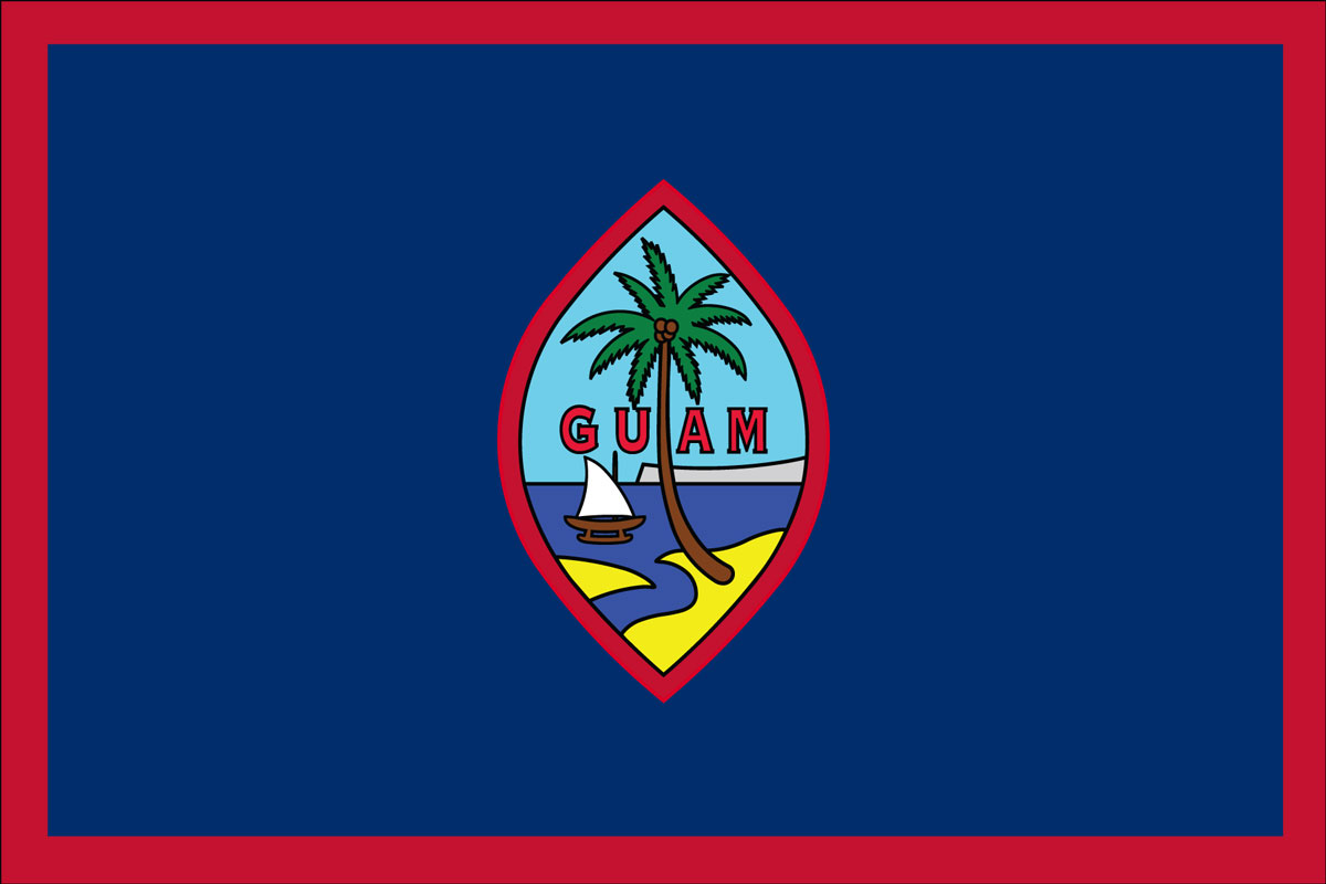"12x18"" Nylon flag of Guam"