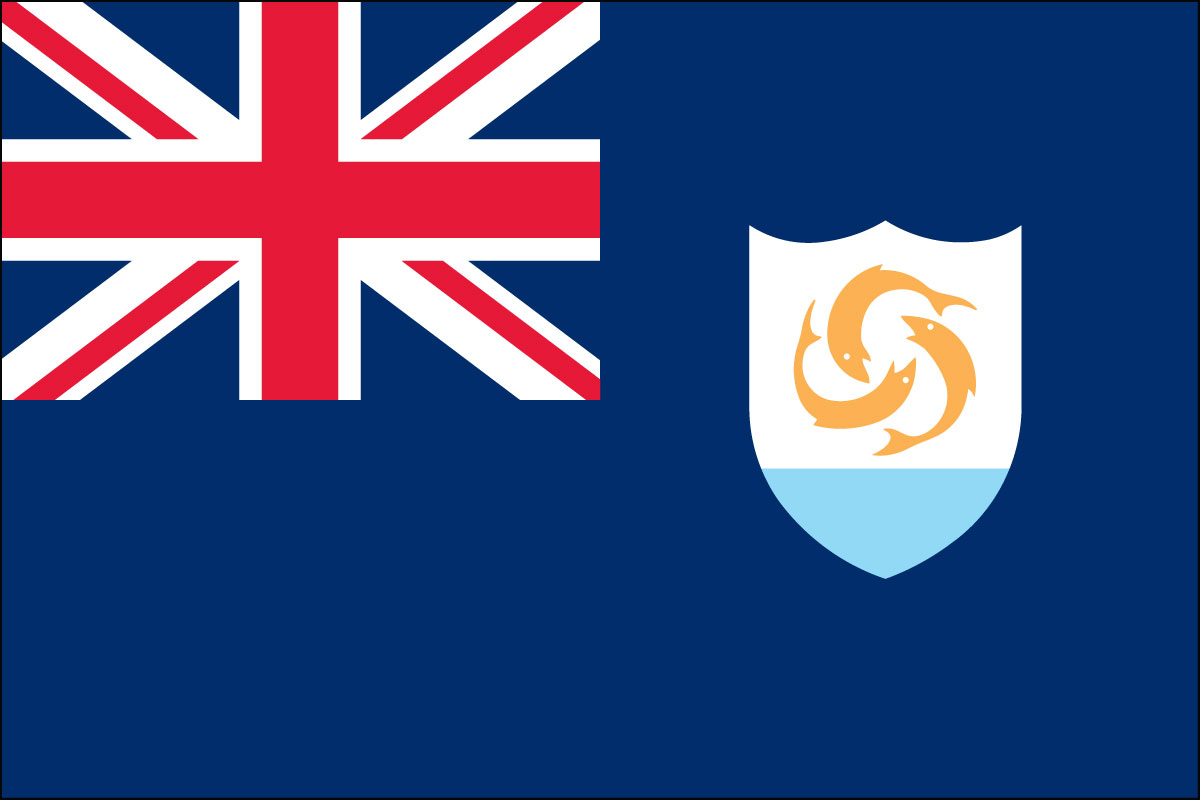 2x3' Poly flag of Anguilla