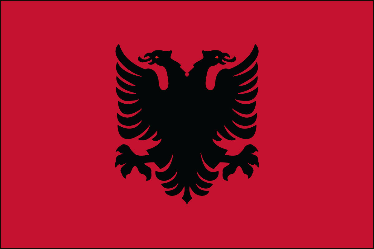 3x5' Nylon flag of Albania