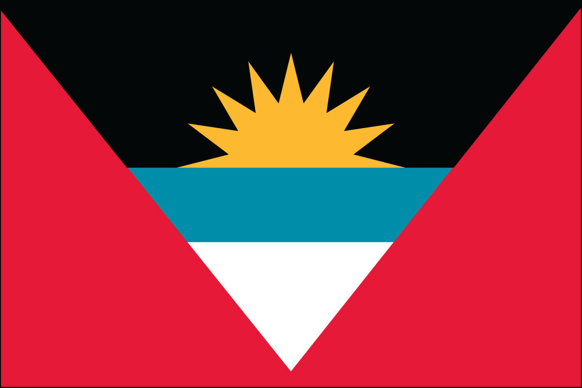 "4x6"" flag of Antigua and Barbuda"
