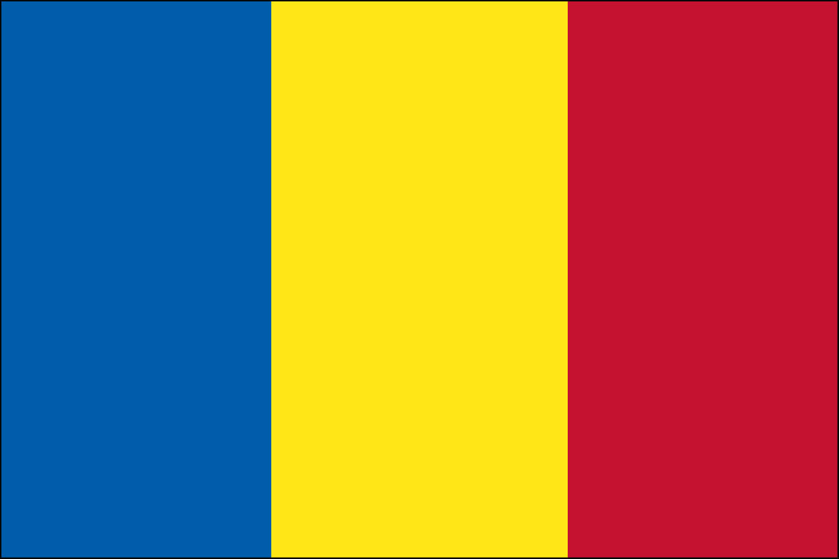3x5' Nylon flag of Andorra - Civil (no seal)