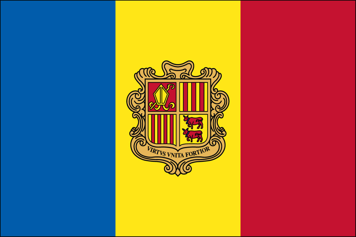 2x3' Poly flag of Andorra