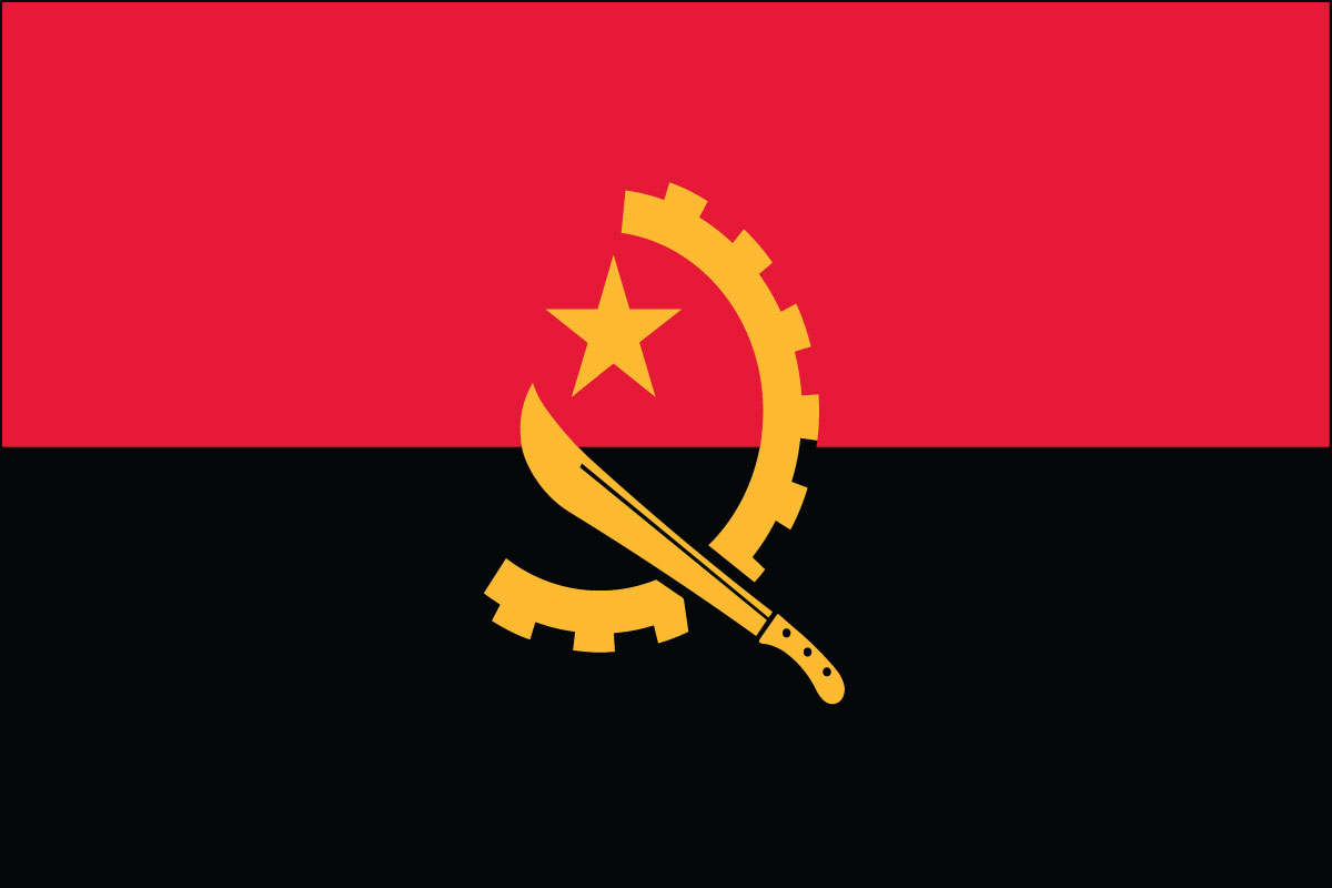 3x5' Nylon flag of Angola