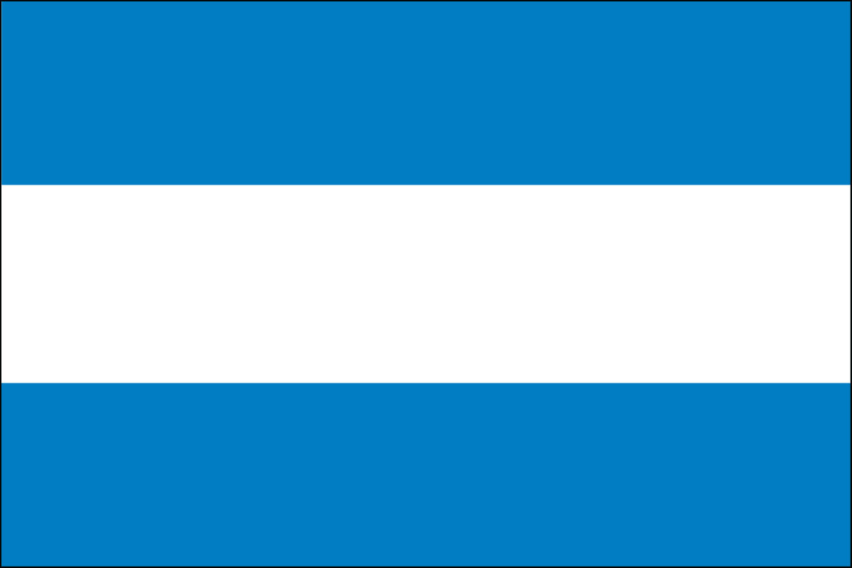 3x5' Nylon flag of Argentina - Civil (no seal)
