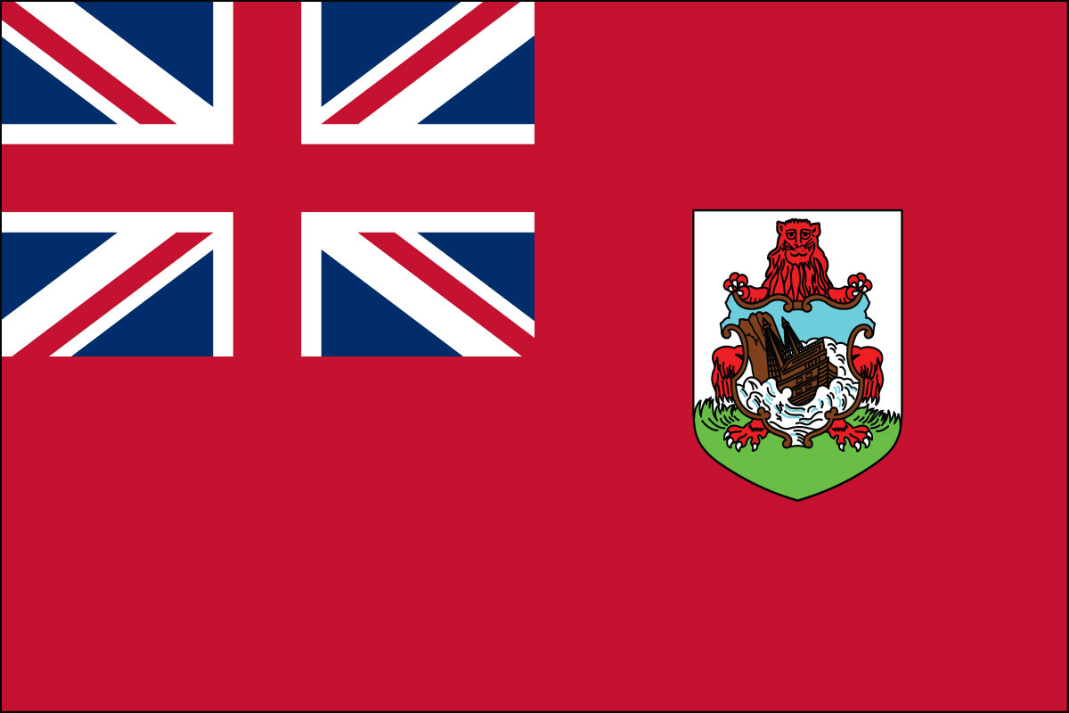 "12x18"" Nylon flag of Bermuda"