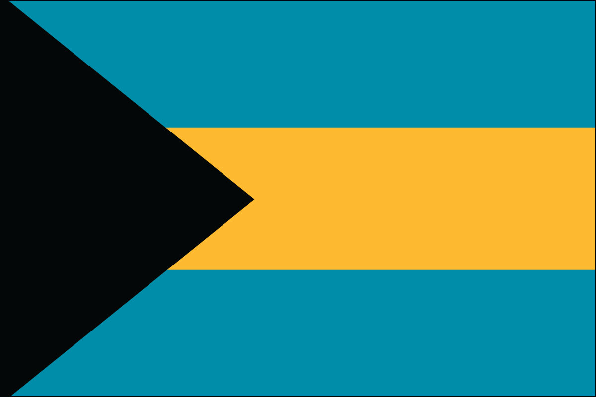 "12x18"" Nylon flag of Bahamas"