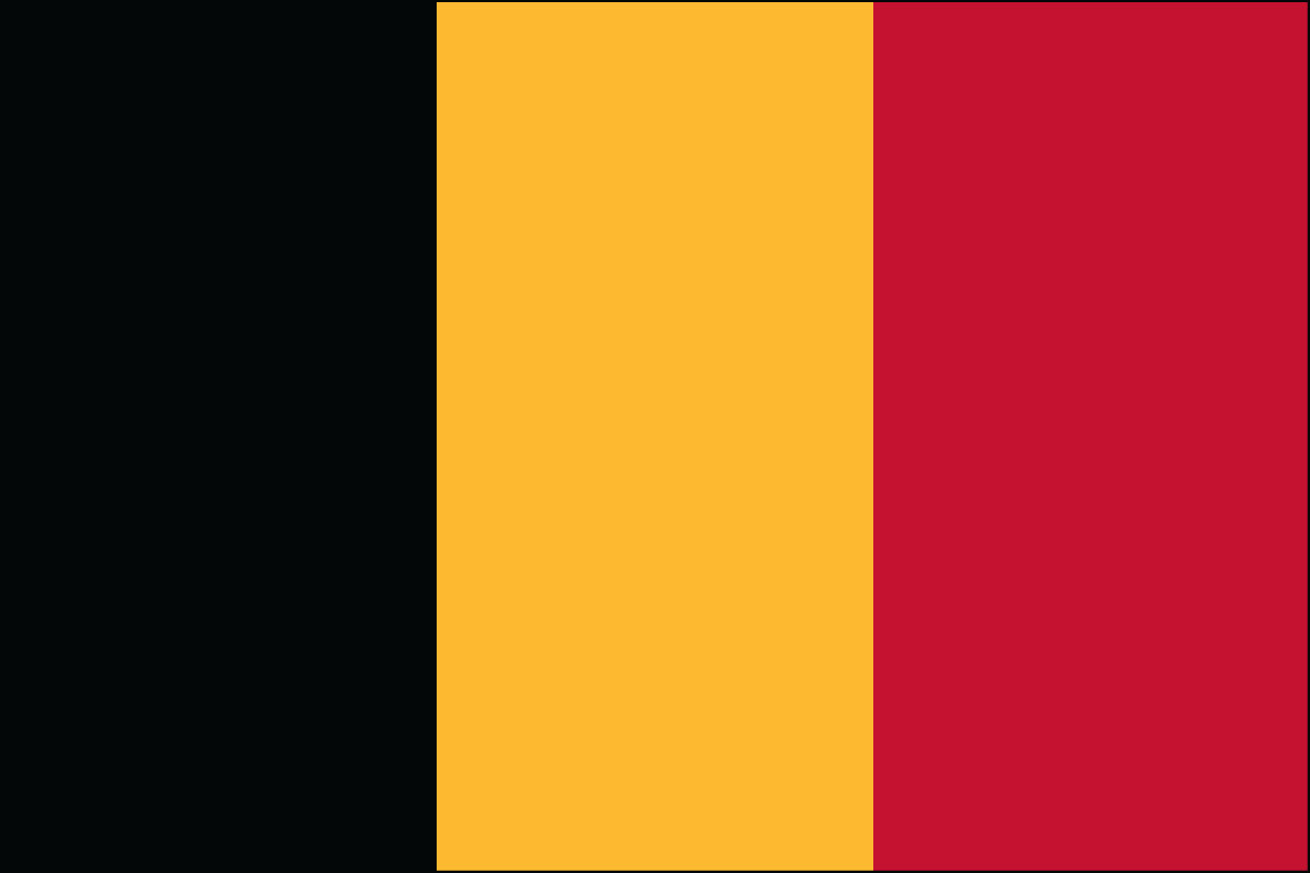 "12x18"" Nylon flag of Belgium"