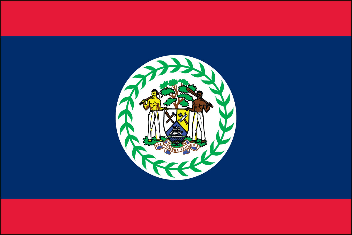 "12x18"" Nylon flag of Belize"