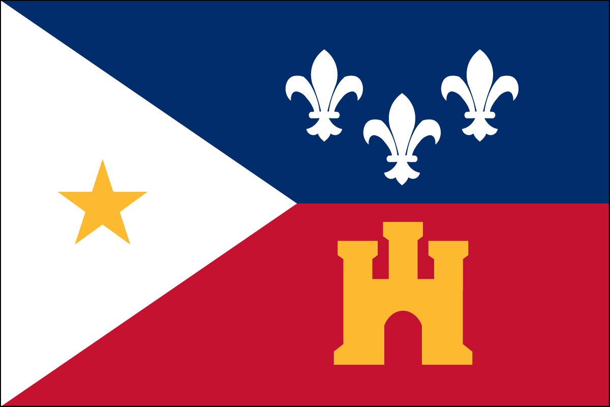 "4x6"" flag of Acadiana (Cajun)"