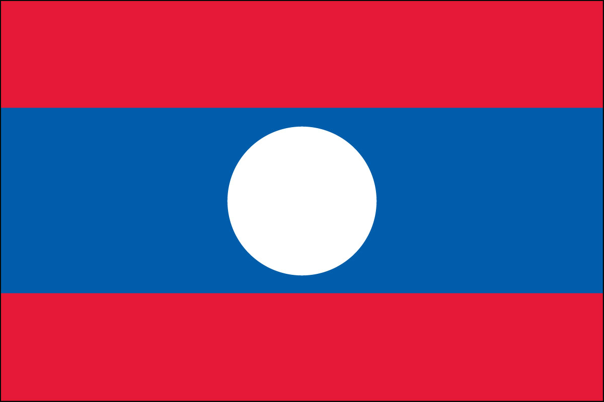 "4x6"" flag of Laos - 4x6"" desk flag of Laos. Base sold separately.<BR><BR><I>Combines with our other 4x6"" desk flags for discounts.</I>"