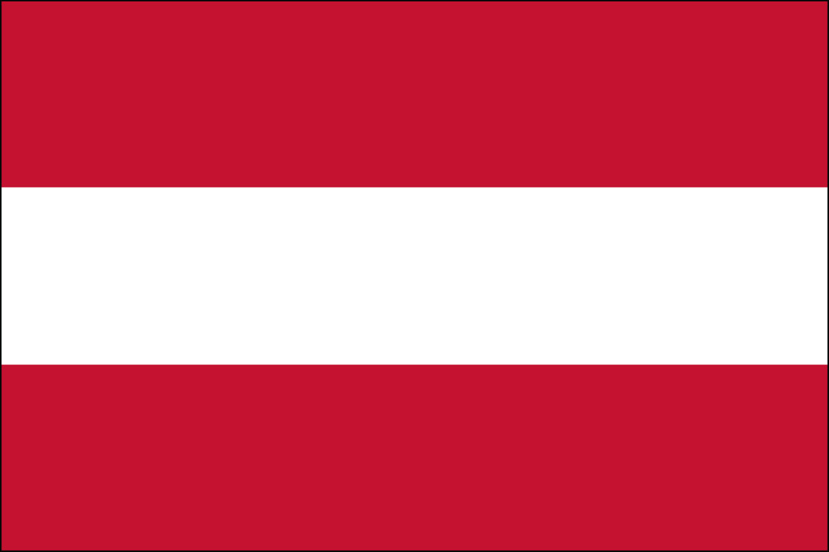 "4x6"" flag of Austria - 4x6"" desk flag of Austria. Base sold separately.<BR><BR><I>Combines with our other 4x6"" desk flags for discounts.</I>"