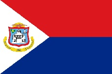"12x18"" poly flag on a stick of St Maarten - 12x18"" polyester flag of St Maarten.<BR>Combines with our other 12x18"" polyester flags for discounts."