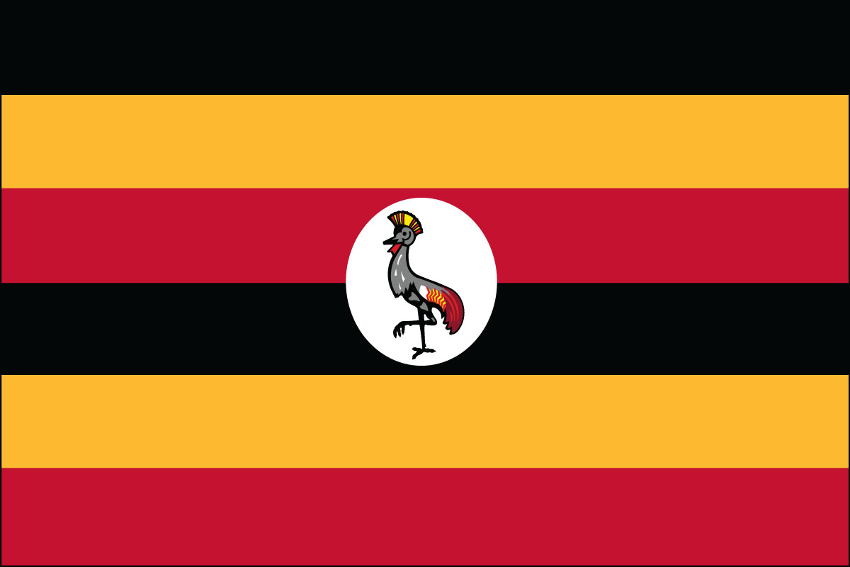 "4x6"" flag of Uganda - 4x6"" desk flag of Uganda. Base sold separately.<BR><BR><I>Combines with our other 4x6"" desk flags for discounts.</I>"